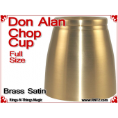 Don Alan Full Size Chop Cup | Brass | Satin Finish 2