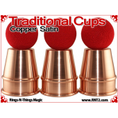 Traditional Tapered Cups | Copper | Satin Finish 4