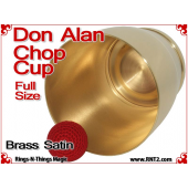 Don Alan Full Size Chop Cup | Brass | Satin Finish 4