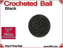 Black Crochet Ball | 3/4 Inch (19mm)