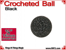 Black Crochet Ball | 5/8 Inch (16mm)