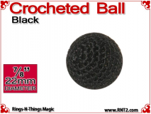 Black Crochet Ball | 7/8 Inch (22mm)