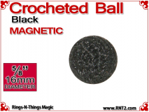 Black Crochet Ball | 5/8 Inch | Magnetic