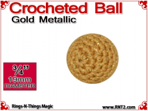 Gold Metallic Crochet Ball | 3/4 Inch (19mm)