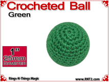 Green Crochet Ball | 1 Inch (25mm)