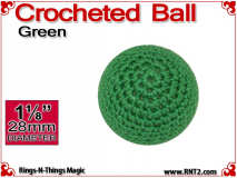 Green Crochet Ball | 1 1/8 Inch (28mm)