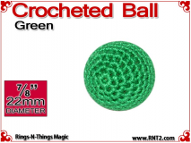 Green Crochet Ball | 7/8 Inch (22mm)