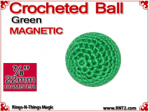 Green Crochet Ball | 7/8 Inch (22mm) | Magnetic