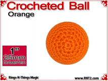Orange Crochet Ball | 1 Inch (25mm)