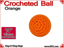 Orange Crochet Ball | 3/4 Inch (19mm)