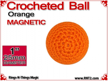 Orange Crochet Ball | 1 Inch (25mm) | Magnetic