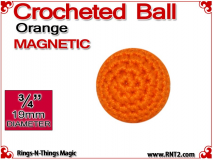Orange Crochet Ball | 3/4 Inch (19mm) | Magnetic
