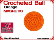 Orange Crochet Ball | 7/8 Inch (22mm) | Magnetic