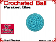 Parakeet Blue Crochet Ball | 5/8 Inch (16mm)