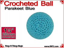 Parakeet Blue Crochet Ball | 1 1/8 Inch (28mm)