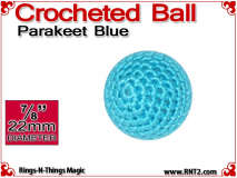 Parakeet Blue Crochet Ball | 7/8 Inch (22mm)
