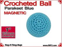 Parakeet Blue Crochet Ball | 1 Inch (25mm) | Magnetic