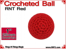 RNT Red Crochet Ball | 1 Inch (25mm)