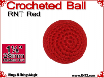 RNT Red Crochet Ball | 1 1/8 Inch (28mm)