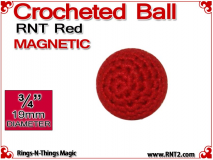 RNT Red Crochet Ball | 3/4 Inch (19mm) | Magnetic