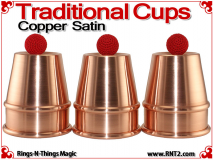Traditional Tapered Cups | Copper | Satin Finish 1