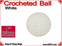 White Crochet Ball | 1 Inch (25mm)