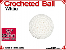 White Crochet Ball | 7/8 Inch (22mm)
