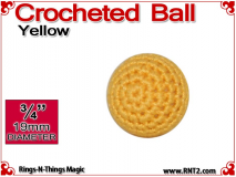 Yellow Crochet Ball | 3/4 Inch (19mm)