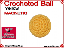 Yellow Crochet Ball | 3/4 Inch (19mm) | Magnetic