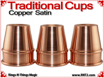 Traditional Tapered Cups | Copper | Satin Finish 2
