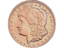Copper Morgan - Quarter Size (26.57mm)
