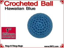 Hawaiian Blue Crochet Ball | 1 Inch (25mm)