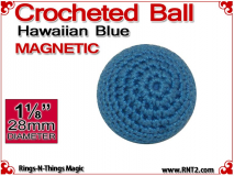 Hawaiian Blue Crochet Ball | 1 1/8 Inch (28mm) | Magnetic