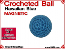 Hawaiian Blue Crochet Ball | 3/4 Inch (19mm) | Magnetic