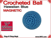 Hawaiian Blue Crochet Ball | 7/8 Inch (22mm) | Magnetic