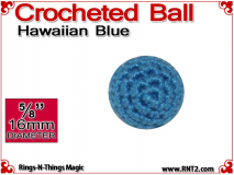 Hawaiian Blue Crochet Ball | 5/8 Inch (16mm)