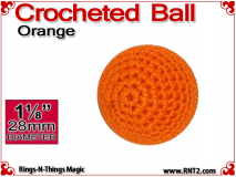 Orange Crochet Ball | 1 1/8 Inch (28mm)