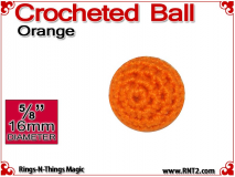 Orange Crochet Ball | 5/8 Inch (16mm)