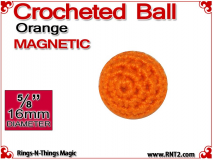 Orange Crochet Ball | 5/8 Inch (16mm) | Magnetic