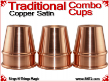 Traditional Tapered Combo Cups | Copper | Satin Finish 2