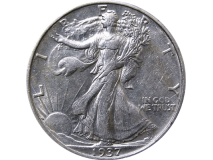 Walking Liberty Half Dollar Expanded Shell - Heads