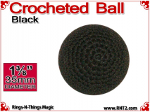 Black Crochet Ball | 1 3/8 Inch (35mm)