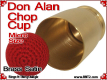 Don Alan Petite Chop Cup | Brass | Satin Finish 3