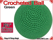 Green Crochet Ball | 2 5/8 Inch  (67mm) | Individual