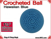Hawaiian Blue Crochet Ball | 1 3/8 Inch (35mm)