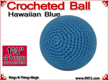 Hawaiian Blue Crochet Ball | 1 5/8 Inch (41mm)
