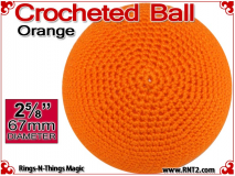 Orange Crochet Ball | 2 5/8 Inch (67mm)