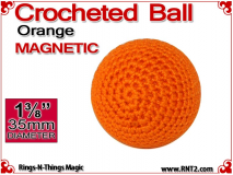 Orange Crochet Ball | 1 3/8 Inch (35mm) | Magnetic