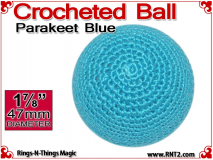 Parakeet Blue Crochet Ball | 1 7/8 Inch (47mm)