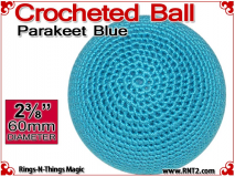 Parakeet Blue Crochet Ball | 2 3/8 Inch (60mm)